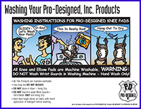washing instructions for P.D. pad products flyer  from Pro-Designed, Inc.
